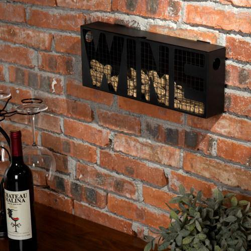 Black Metal Wine Cork Storage Holder - MyGift