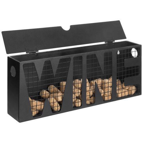 Black Metal Wine Cork Storage Holder