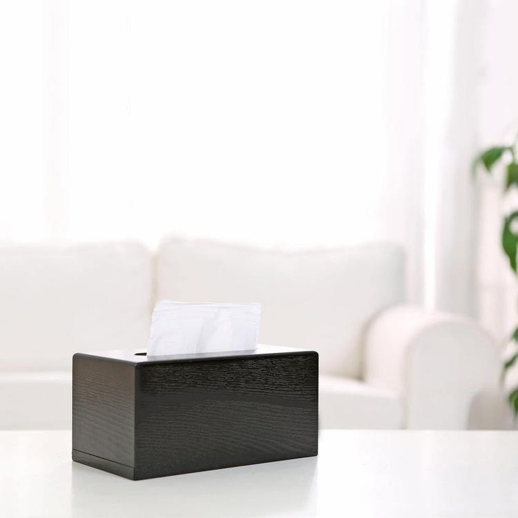 Black Wood Tissue Box Cover
