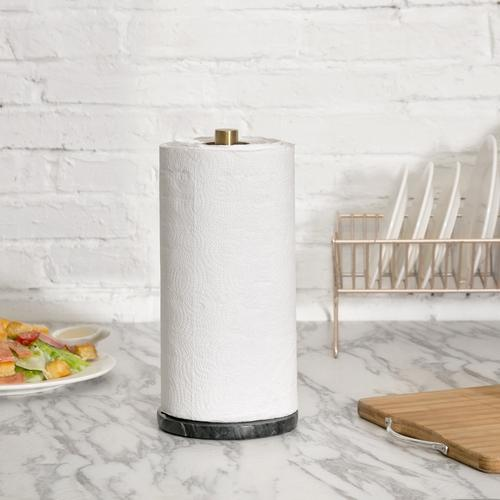 Brass & Marble Paper Towel Roll Holder