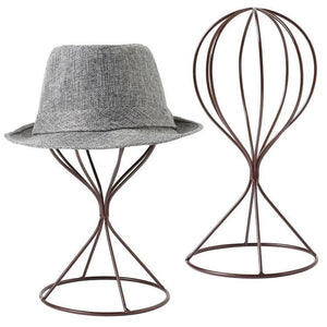 Brown Metal Wire Hat Display Stands, Set of 2 - MyGift