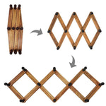 Burnt Wood Accordion Peg Coat Rack - MyGift