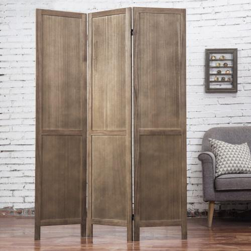 Burnt Wood Barn Door Style Room Divider - MyGift