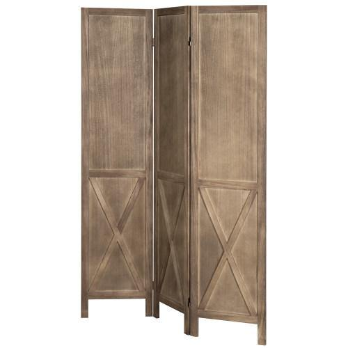 Burnt Wood Barn Door Style Room Divider