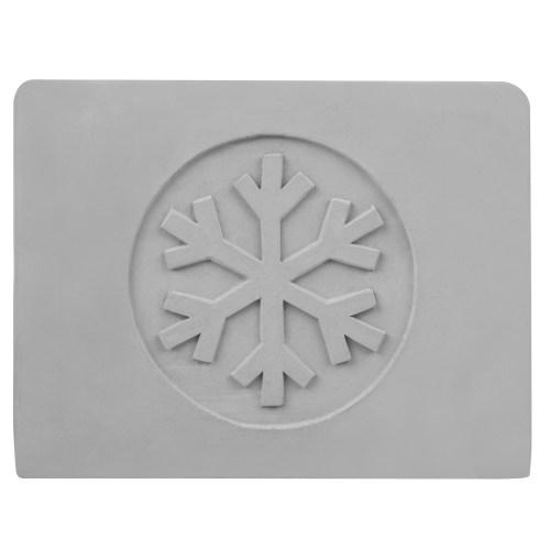 Cement Napkin Holder with Snowflake Design