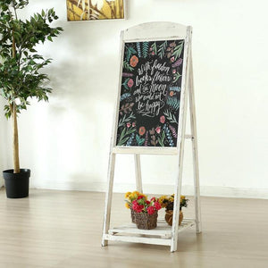 Chalkboard Easel with Shelf Vintage A-Frame Sign