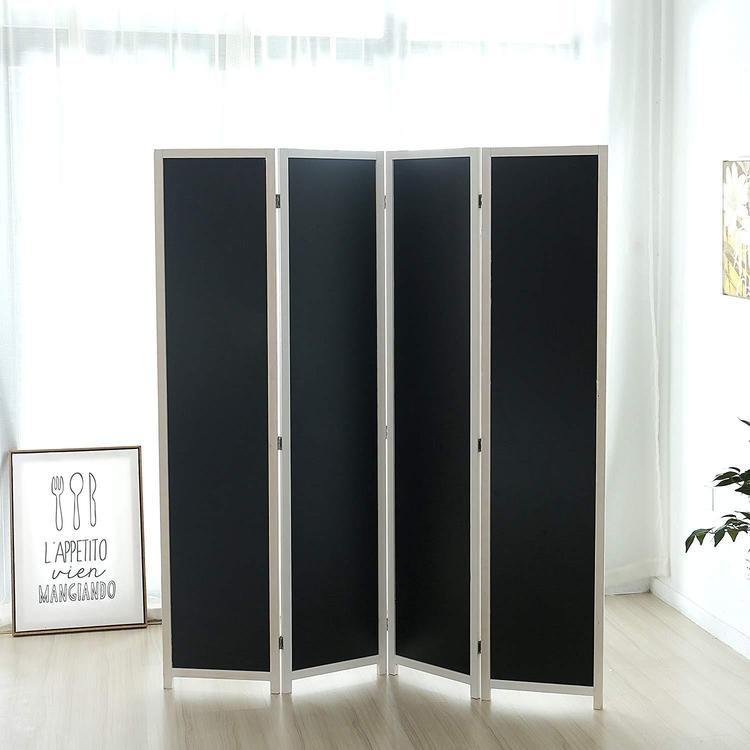 Chalkboard Panel Room Divider, 4 Panels