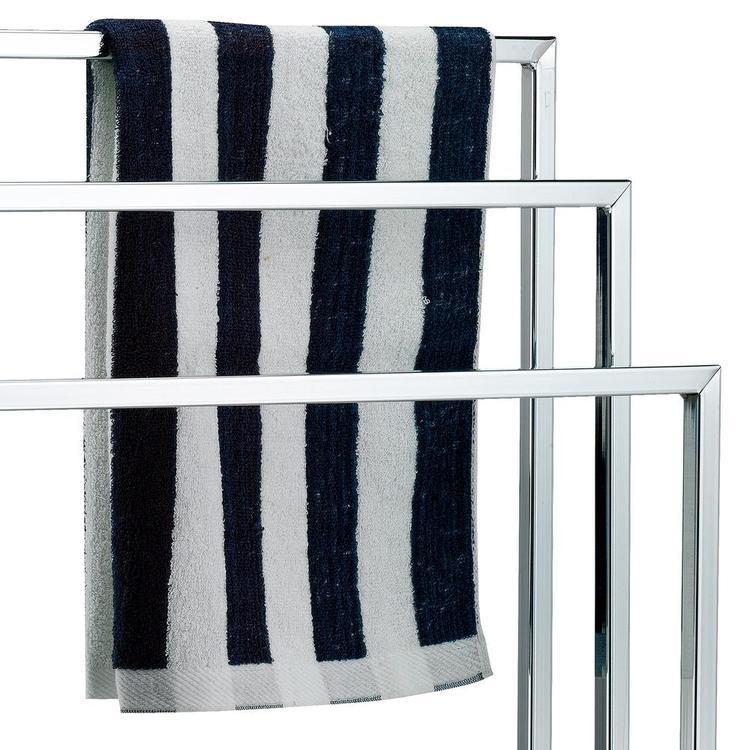 3 Tier Chrome Plated Silver-Toned Freestanding Towel Rack - MyGift Enterprise LLC