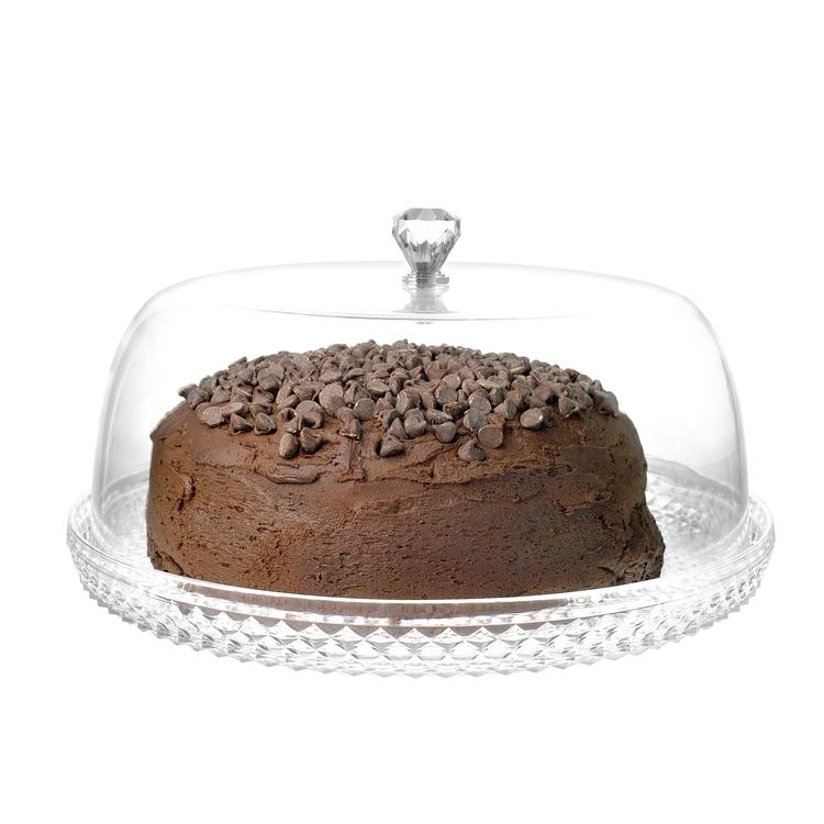 Clear Acrylic Cake Dessert Platter with Cloche Bell Cover