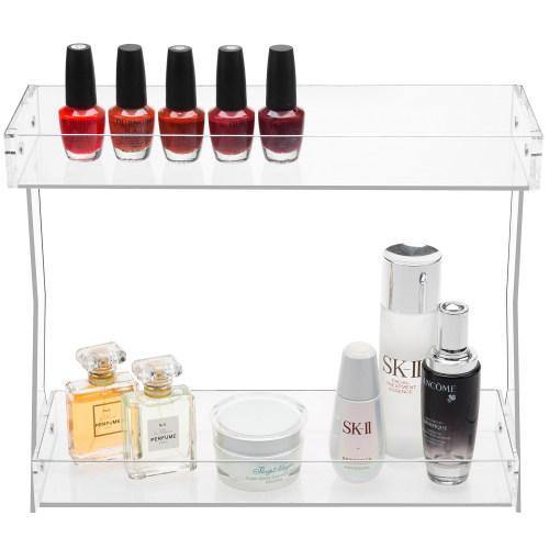 Clear Acrylic Cosmetics & Makeup Tabletop Storage Rack