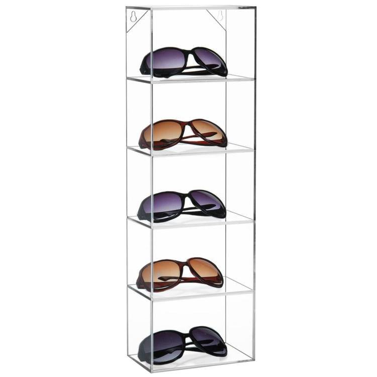 Clear Acrylic Wall Mounted Organizer Rack / 5 Shelf Sunglasses Display Case - MyGift Enterprise LLC