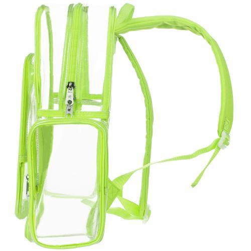 Clear Security Backpack with Yellow Trim
