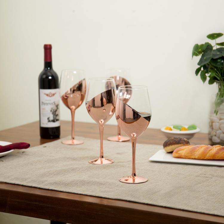 Copper-Dipped Wine Glasses, Set of 4 - MyGift