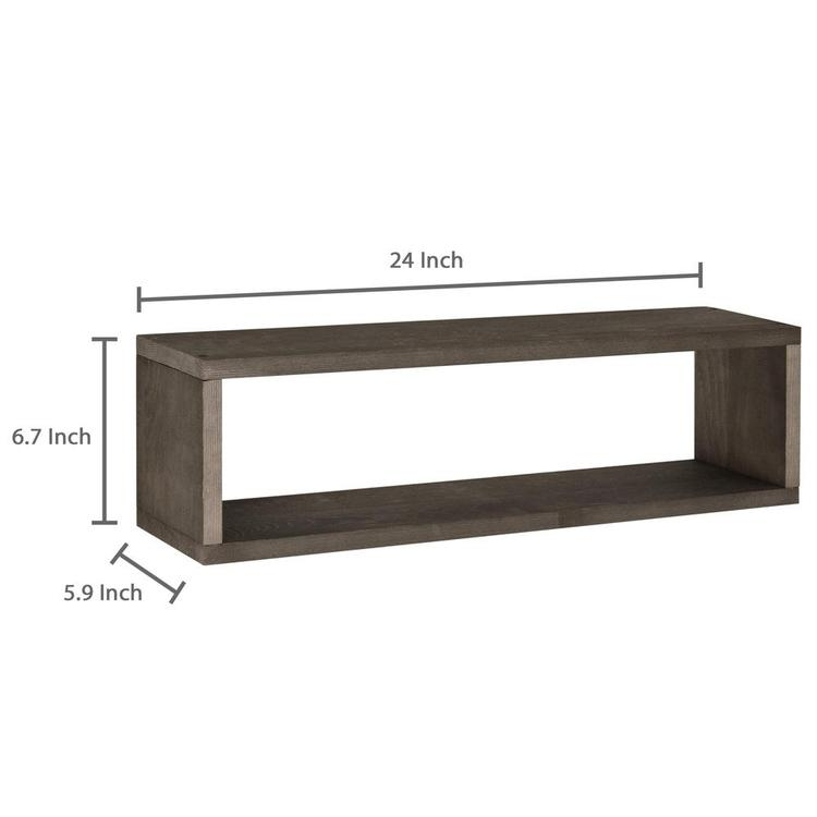 Dark Brown Wood Wall Mounted 24-Inch Floating Shadow Boxes, Set of 2 - MyGift Enterprise LLC