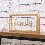 Decorative Acrylic Family Sign with Natural Bamboo Frame