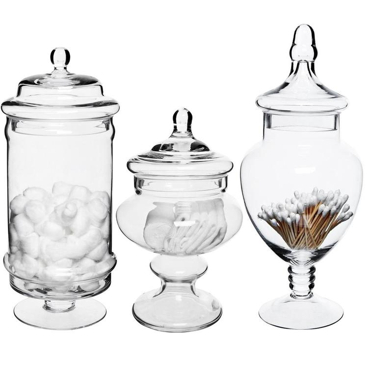 Deluxe Apothecary Jars Set of 3