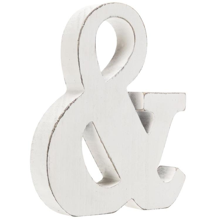 Freestanding Wood Ampersand Monogram