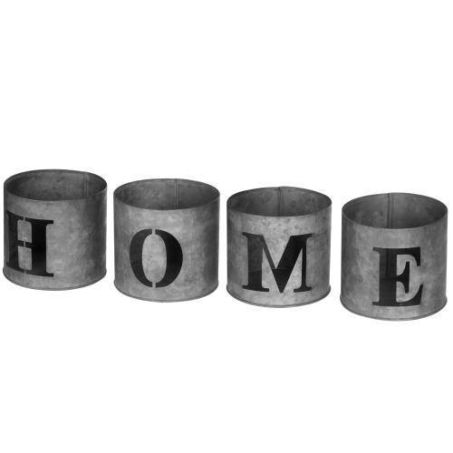 Galvanized Tealight Candle Holders HOME - MyGift