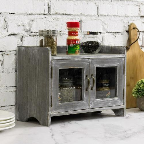 Gray Brown Wood Kitchen & Bathroom Countertop Cabinet