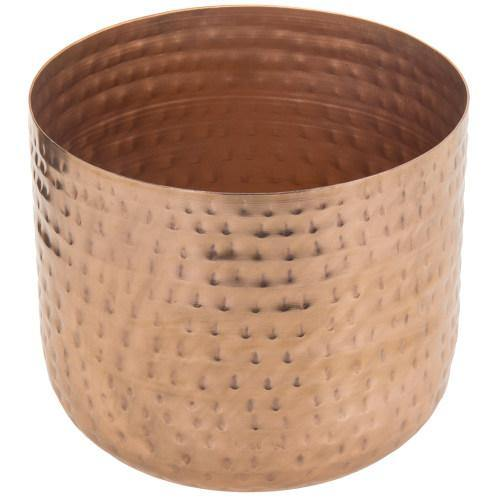 Hammered Style Copper Metal Planter Pot - MyGift