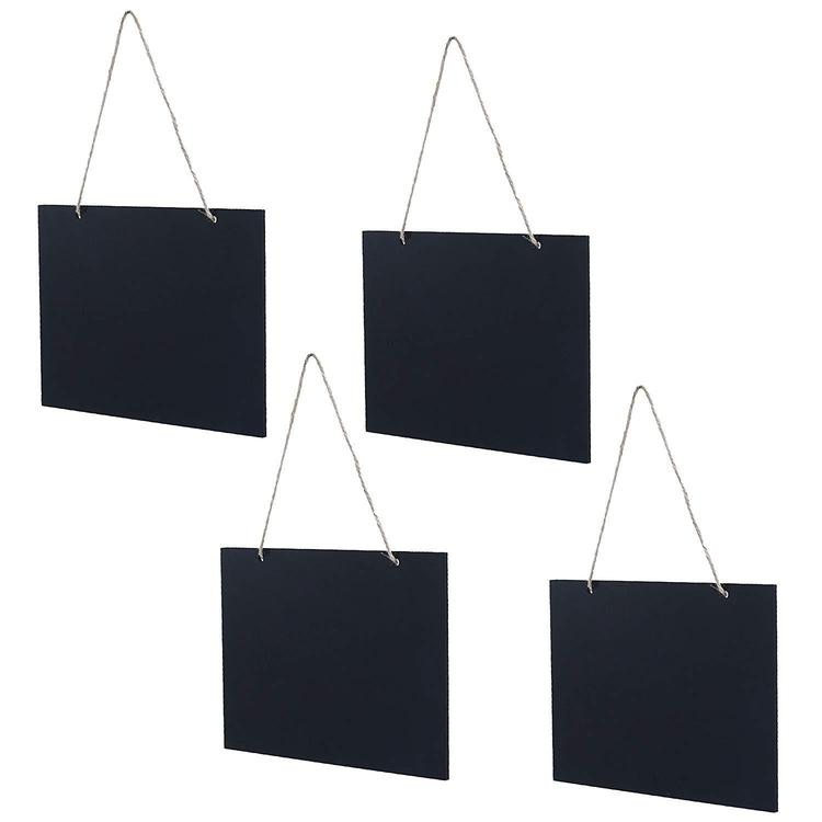Hanging Chalkboard Signs with Rustic Rope, Set of 4