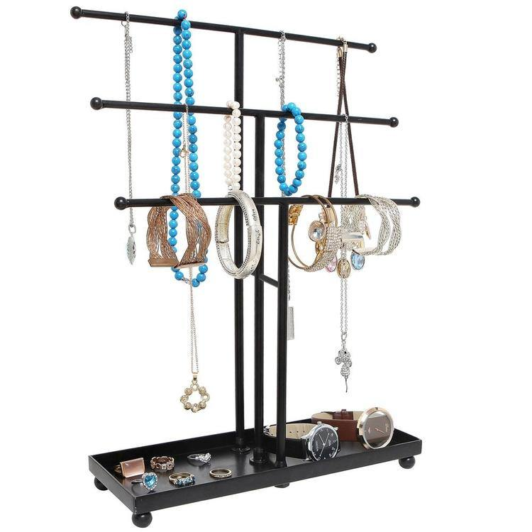 Hanging Jewelry Organizer with Bottom Tray - MyGift