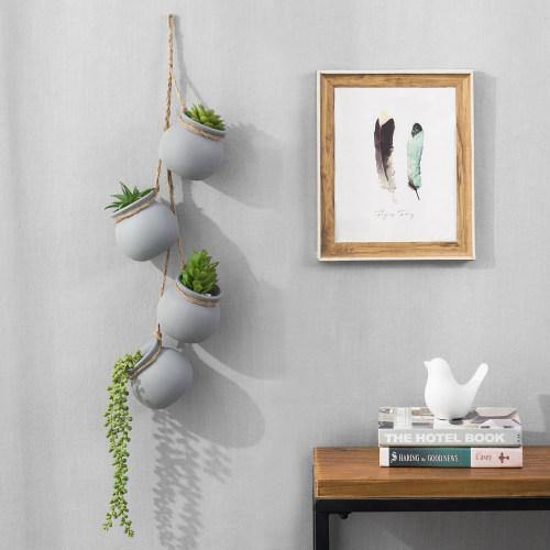 Hanging Mini Planter Pots, Gray