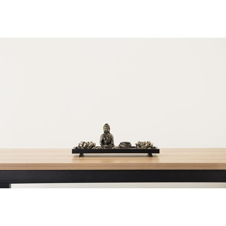 Home Zen Garden Set - Buddha Statue / Lotus Tea Light Candle Holder / Incense Burner Holder - MyGift Enterprise LLC