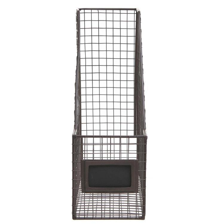 Brown Mesh Wire Metal Mail / Document Storage Basket w/ Label Holder - MyGift Enterprise LLC