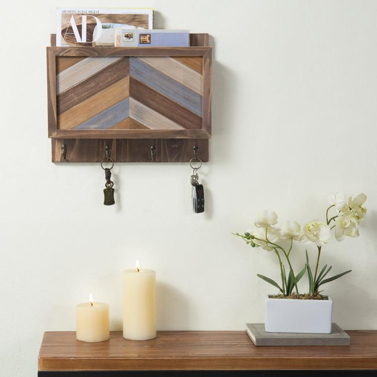 Mid-Century Wall Mounted Entryway Organizer