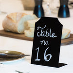 Mini Black Erasable Chalkboard Message Signs, Event Place Cards, Set of 6 - MyGift Enterprise LLC