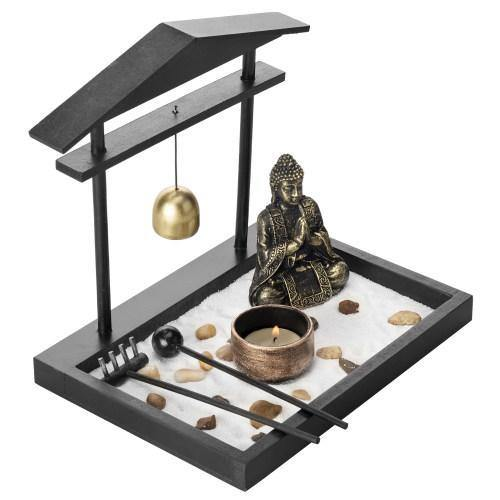 Mini Zen Sand Garden with Accessories and Tray - MyGift