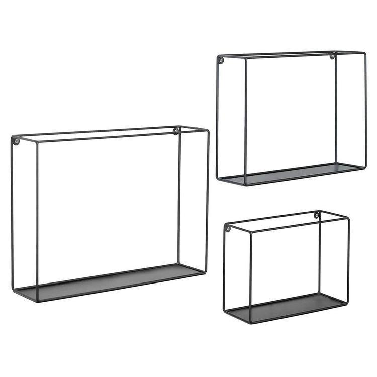 Modern Metal Wire Frame Shadow Boxes, Set of 3, Black - MyGift Enterprise LLC