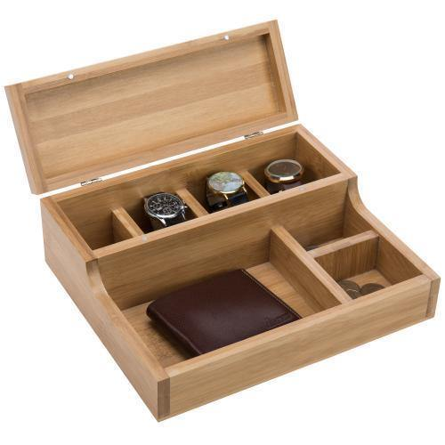 Natural Beige Bamboo Watch Case - MyGift