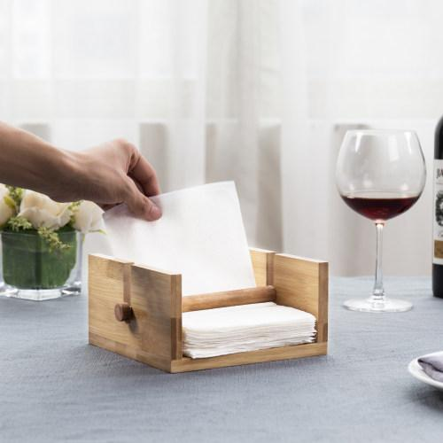 Natural Finish Bamboo Napkin Holder