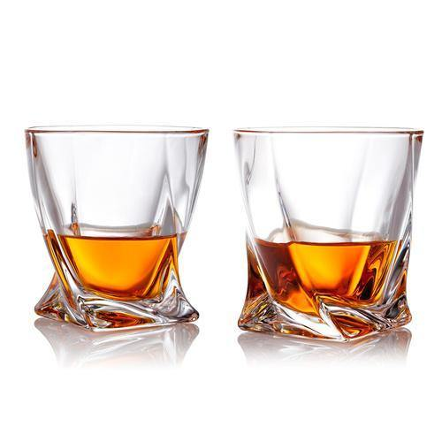 Old Fashioned Whiskey Tumbler Glasses, Set of 2