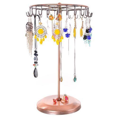 Rotating Bronze-Tone Necklace Holder Bracelet Stand - MyGift