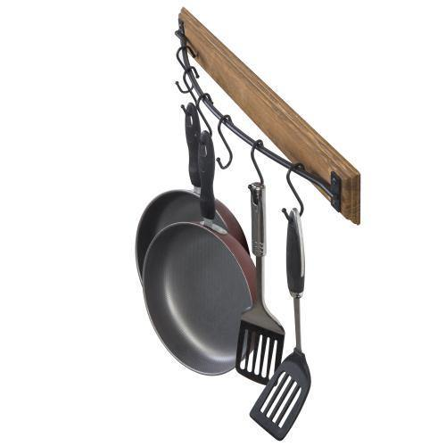 Rustic Brown Wood Pot & Pan Organizer Rack - MyGift