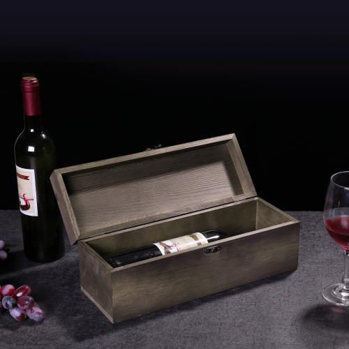 MyGift Rustic Burnt Wood Wine Gift Box & Carrying Case with Chalkboard Label - MyGift Enterprise LLC