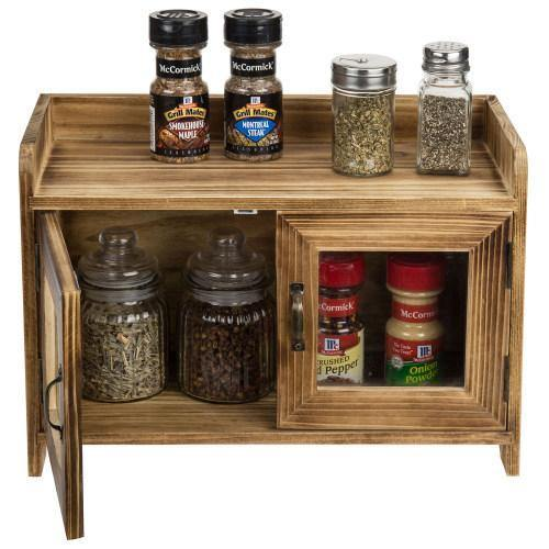 Rustic Dark Brown Wood Kitchen & Bathroom Countertop Cabinet