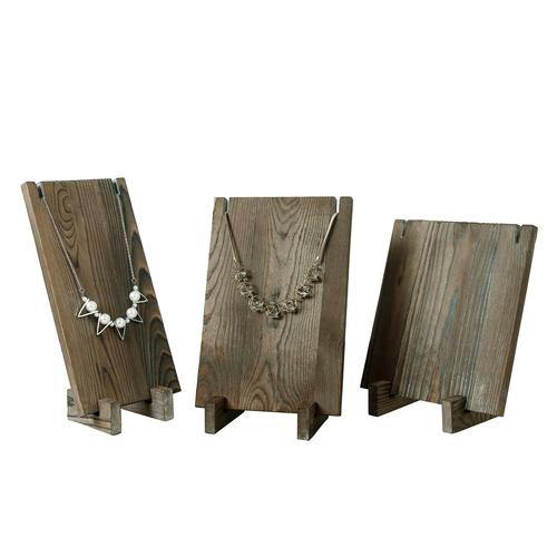 Rustic Gray Wood Jewelry Display, Set of 3 - MyGift