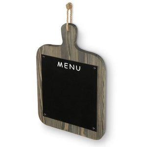 Rustic Gray Wood Wall Hanging Cutting Board Shaped Chalkboard - MyGift