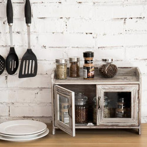 Rustic Wood Kitchen & Bathroom Countertop Cabinet - MyGift