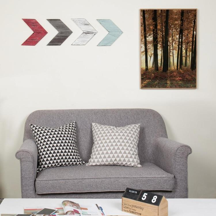 Decorative Rustic Wood Wall-Mounted Chevron Arrows, Set of 4 - MyGift Enterprise LLC