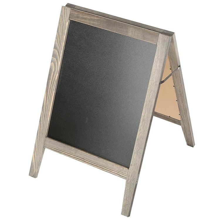 Rustic Wooden Freestanding A-Frame Double-Sided Chalkboard Sidewalk Sign - MyGift Enterprise LLC