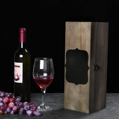 Rustic Wooden Wine Case with Chalkboard Label, Set of 2 - MyGift