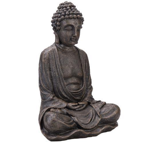 Seated Shakyamuni Resin Bronze Buddha Statue - MyGift
