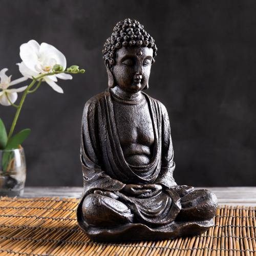 Seated Shakyamuni Resin Bronze Buddha Statue