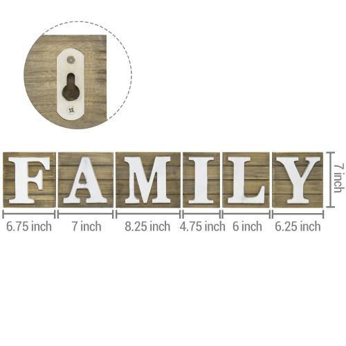 Rustic Brown Wood FAMILY Sign-MyGift