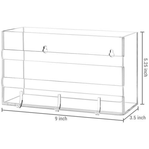 Deluxe Clear Acrylic Wall Mounted Entryway Organizer-MyGift